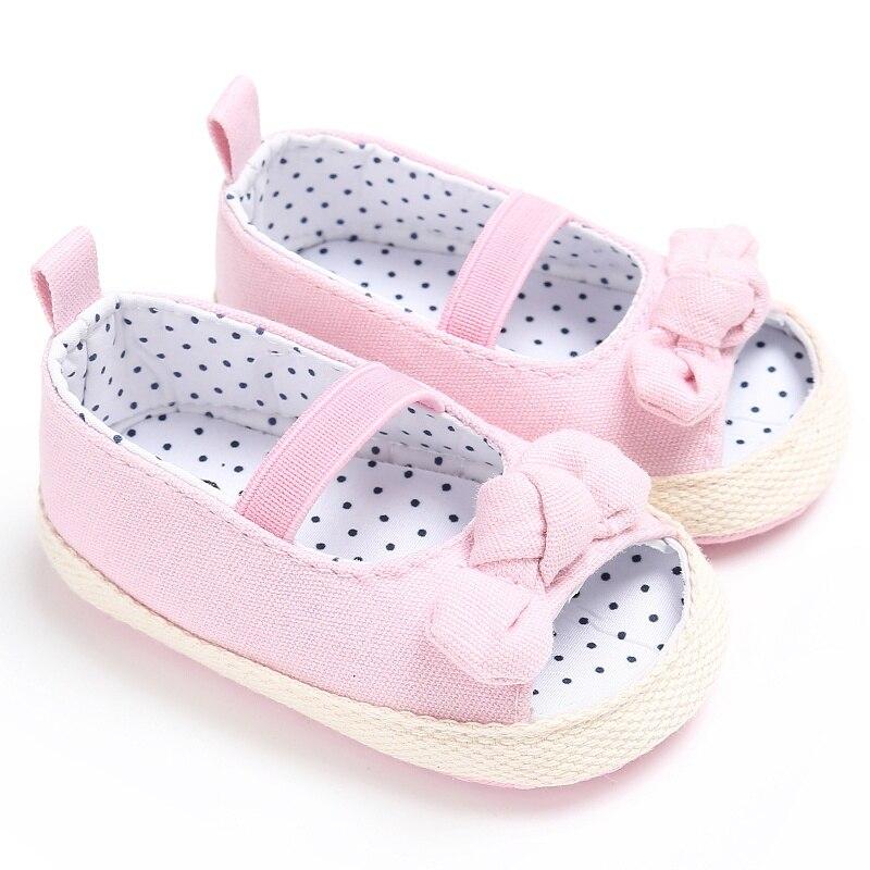 Verano bebé Flor de encaje zapatos de impresión tamaño niños niñas Sandalias Zapatos antideslizante niños Rosa Blanco