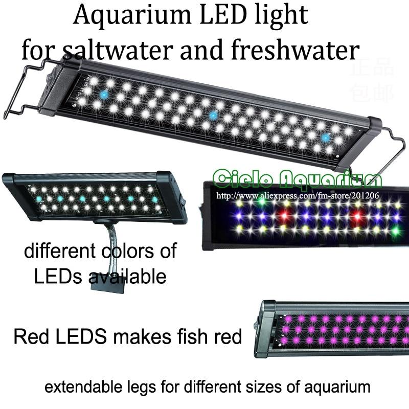 "12"" - 18""/30CM-45CM Hi Lumen LED freshwater plant saltwater marine aquatic Aquarium Fish tank LED lighting fixture lamp Colorful"