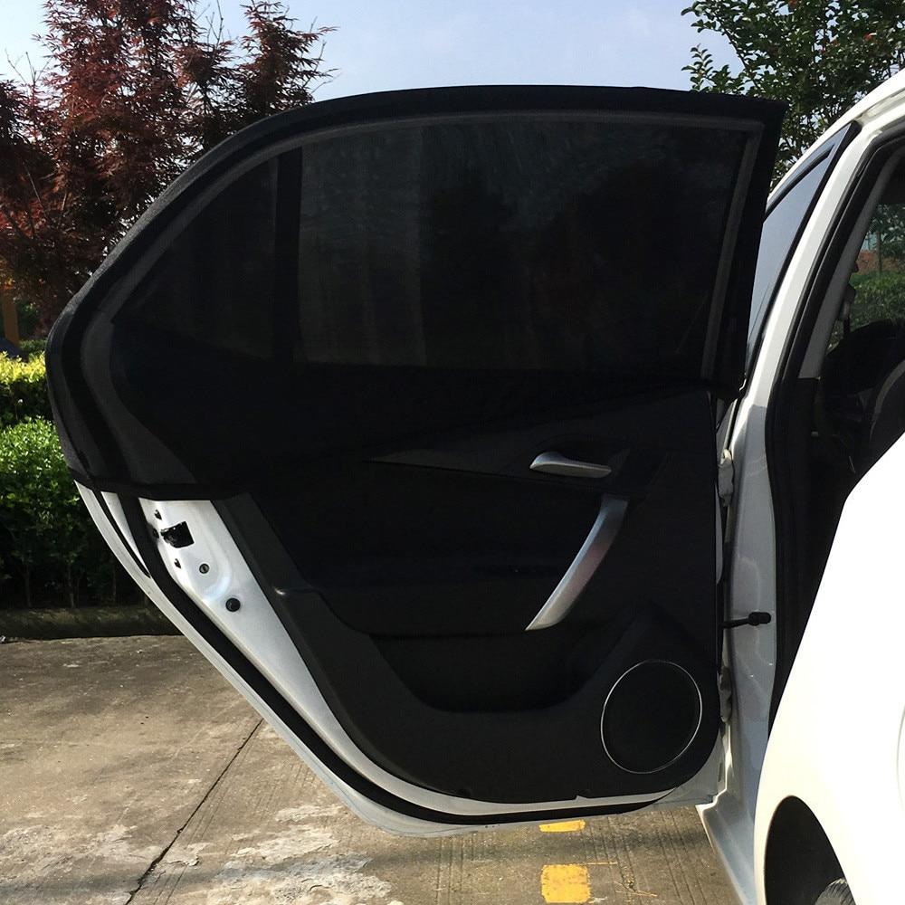 Coche parasol de ventanilla trasera UV de Sol de malla tonos ciego niños sombrilla bloqueador negro M L XL dropship