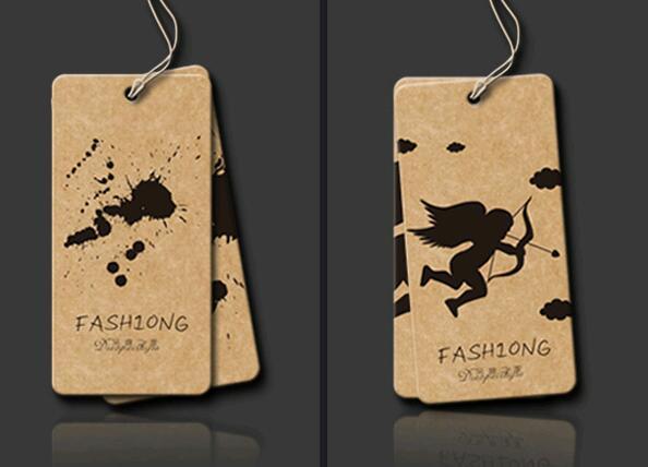 Personalizado de regalo impreso Etiqueta de Papel kraft para colgar/precio de etiqueta/300gsm de papel de kraft de alta calidad etiqueta/etiqueta colgante para vaqueros de diseño libre