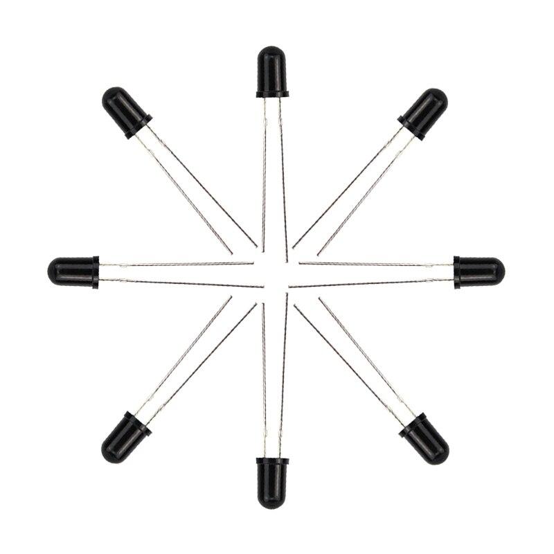 1/10 piezas 5mm 940nm LED emisor infrarrojo y Diodo receptor IR