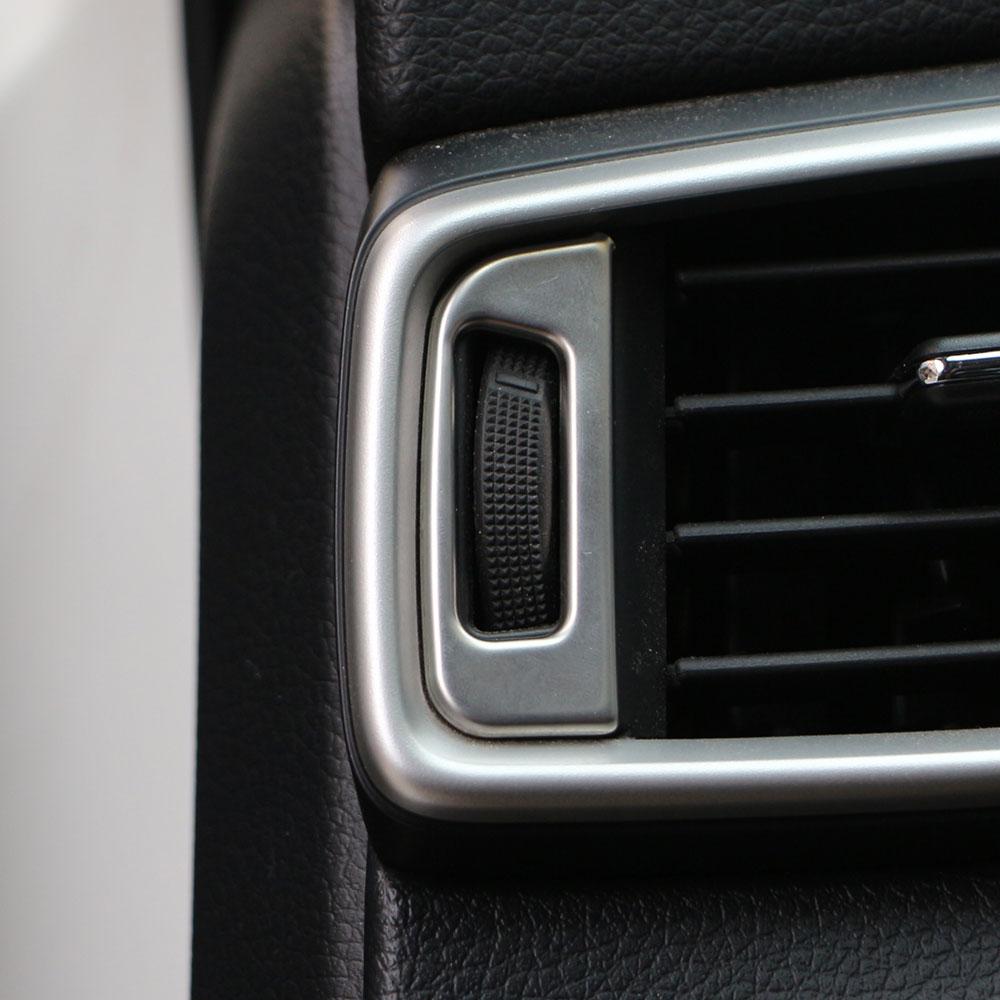 Adhesivo decorativo de lentejuelas para aire acondicionado Interior de estilo coche Carmilla para Nissan X-TRAIL Xtrail X trail T32 2013 + Qashqai J11 2014 +