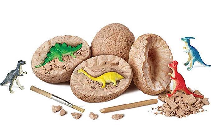 Kit de juguete de excavación de huevo de dinosaurio, huevos de dinosaurio únicos, regalo de Ciencia de Arqueología de Pascua, regalos de dinosaurio, recuerdos de fiesta para niño y niña