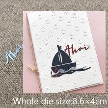 Nowy projekt do cięcia metalu Die cut umiera niemieckiego ahoy list dekoracji Album księga gości Craft tłoczenie die cuts
