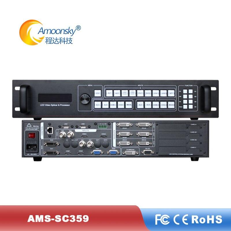 AMS-SC359 três-imagem led video processador multi-tela splicing controlador de vídeo wall