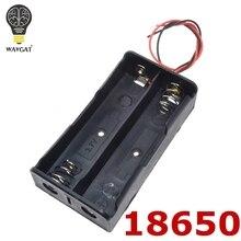 WAVGAT batterie externe 18650 support de batterie en plastique batterie porte-boîte de rangement étui pour 2x 18650.