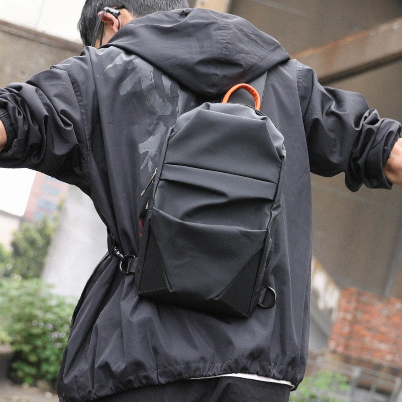 multifunction small backpack crossbody bag waterproof men chest bag 11 inch laptop ipad shoulder bag men s chest pack FYUZE New Multifunction Crossbody Bags Men Waterproof Nylon Chest Pack Short Trip Messengers Chest Bag Shoulder Bag Male