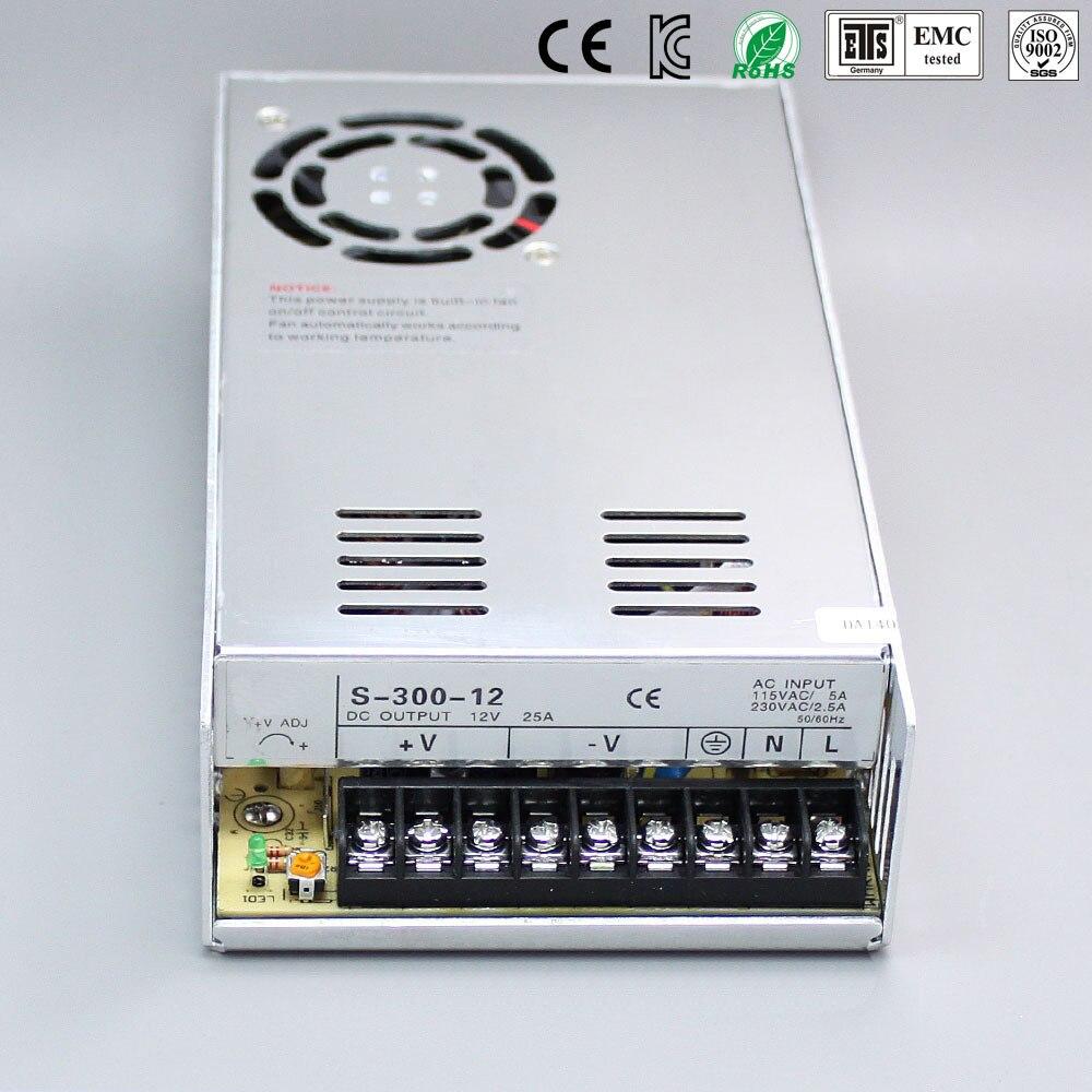 300 W 6.25A 48 V Ajustável fonte de Alimentação Smps 48 V Transformador 220 v 110 v AC para fonte 48 V Para Led Strip luz CNC CCTV