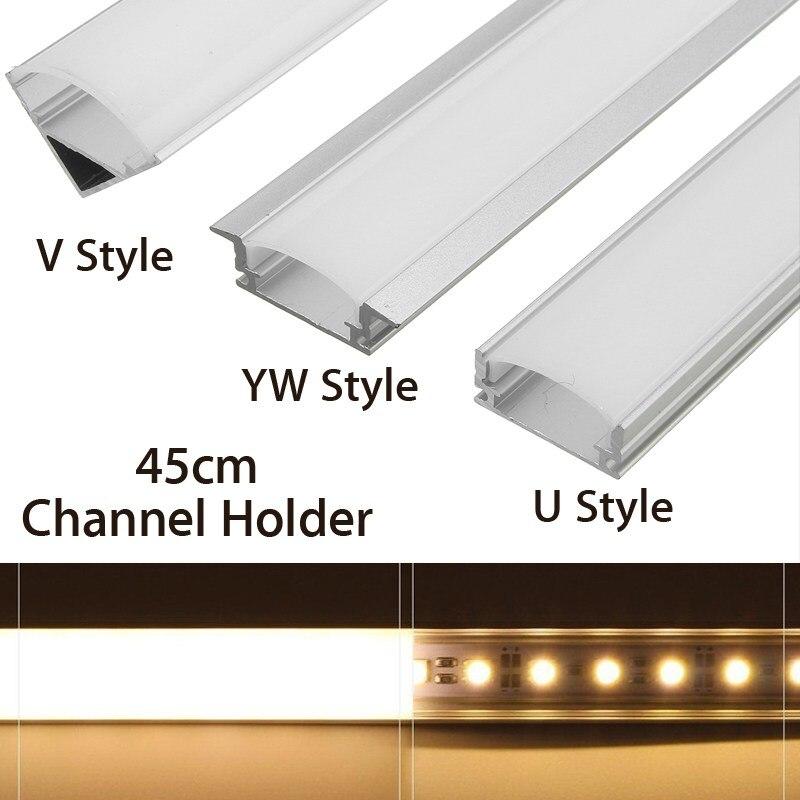 U/V/YW стиль формы 45 см Серебряный алюминиевый светодиодный светильник держатель для бара светодиодный светильник