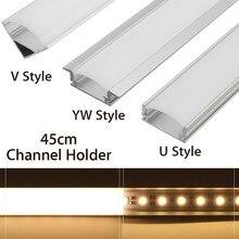 U/V/Yw Stijl Vormige 45 Cm Zilver Aluminium Led Bar Licht Kanaal Houder Voor Led Strip Licht bar Kast Lamp