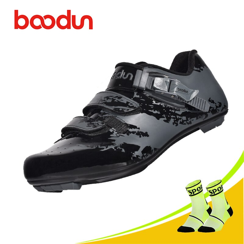 Zapatos de ciclismo BOODUN sapatilha ciclismo al aire libre para hombre, zapatos de ciclismo de carretera con bloqueo automático para bicicleta, zapatos de ciclismo resistentes al desgaste
