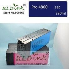 [KLD atrament] kompatybilny wkład z atramentem dla Stylus Pro 4800 drukarki (9 wkłady z układu i atrament pigmentowy)