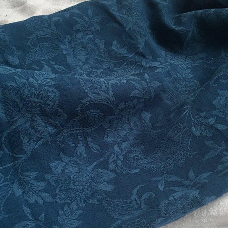 100cm * 150cm vintage paisley jacquard algodão pano vestido estofamento cortina tecido natural