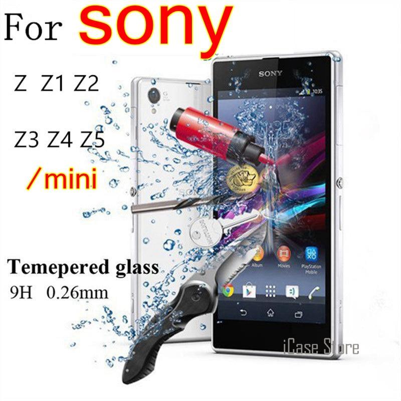 Cristal templado 9H Premium de 0,26mm para Sony xperia Z Z1 Z2...