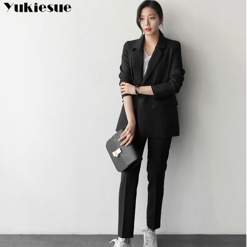 spring summer style wome's suit two piece set women two-piece suit female OL office lady blazer jack