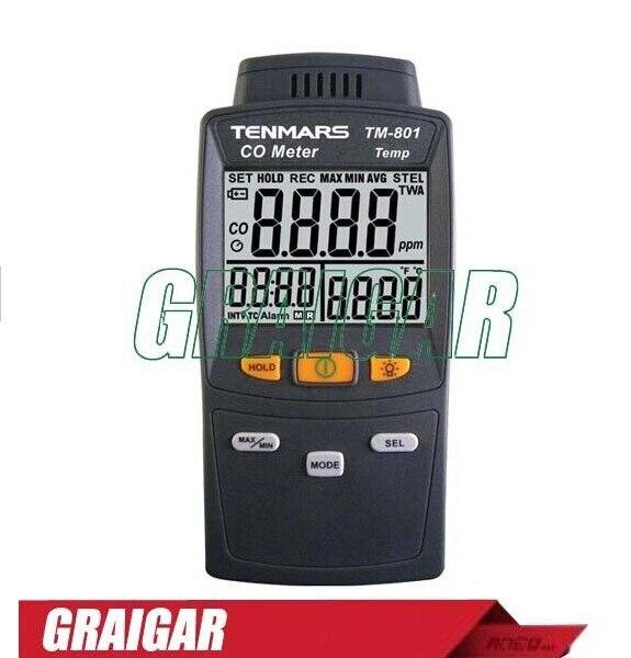 Luz de fondo LED monóxido de carbono/detector de CO probador TM-801