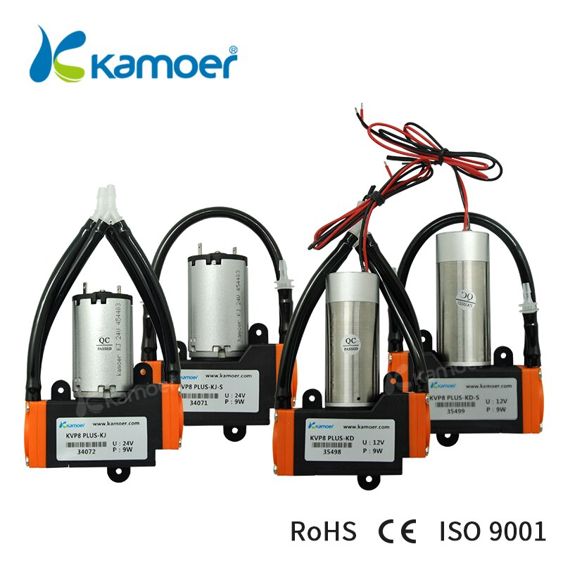 Kamoer KVP8 Plus 12V/24V Micro Diaphragm Vacuum Pump with Brush/Brushlees Motor Used For Air Transfer kamoer kvp04 12v 24v mini diaphragm vaccum pump electric air pump with low flow rate 1 1l min and low noise