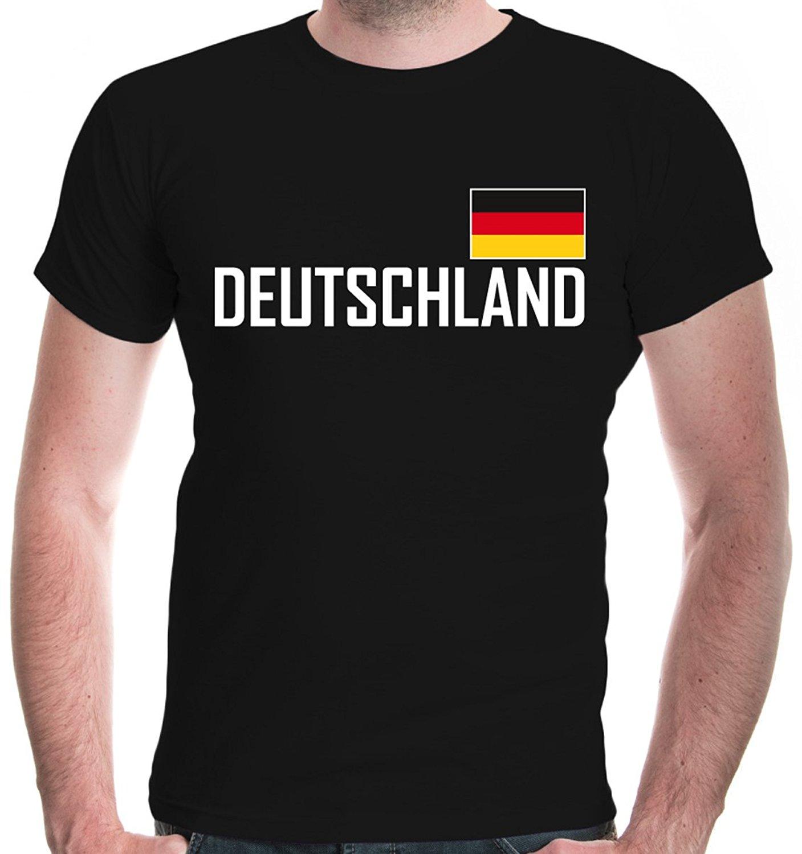 100% coton T-Shirt hommes 2018 été pas cher vente pré-coton t-shirts pour hommes Deutschland drapeau footballeur décontracté T-Shirt