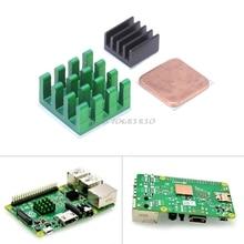 For Raspberry Pi 3 Model B Aluminum Heat Sink + Bracket Raspberry Pi RPI Sink Cooling CPU Copper Heat Sink 2