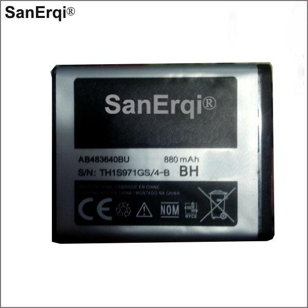 SanErqi 880mAh AB483640BU For Samsung battery SL-M608 J600 J608 B3210 C3050 E740 E748 F110 F118 F619 G618 J218 battery