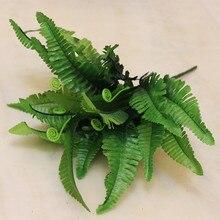 Искусственные листья папоротника персидский лист папоротник трость трава для растений стены ложный цветок пластиковая трава parterre
