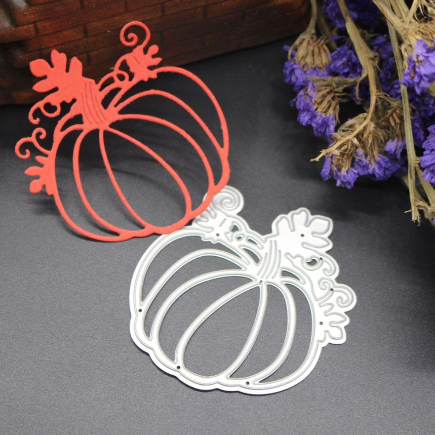 Troqueles de acero al carbono Metal plata Scrapbooking manualidades Halloween tarjetas caseras matrices 18JAN5