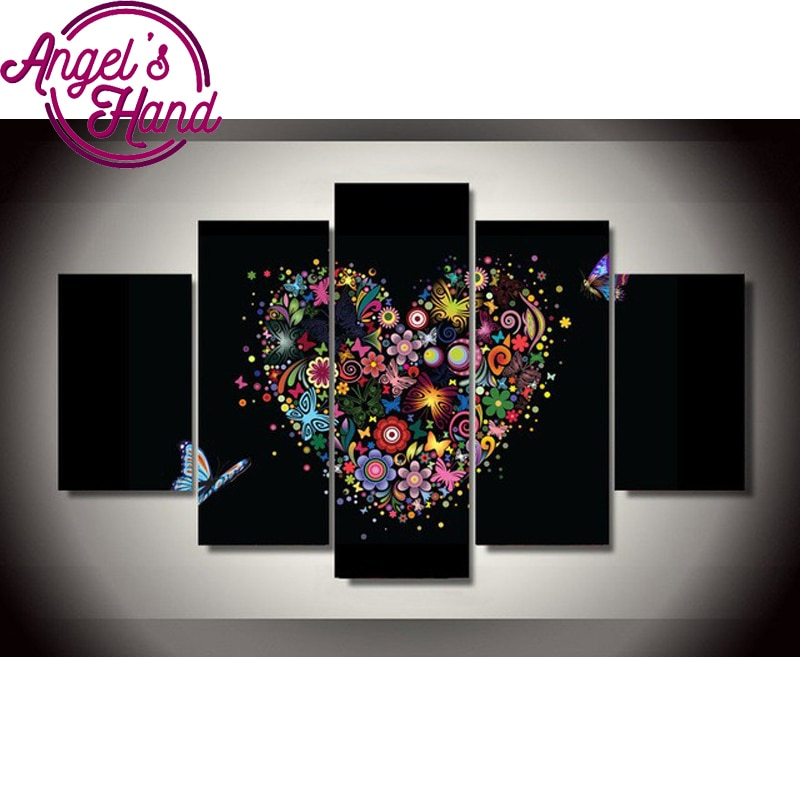 Diy 5 unids/set mosaico completo 5d bordado de diamantes bonito mariposa 3d diamante pintura punto de cruz cuentas cuadradas multi-imágenes