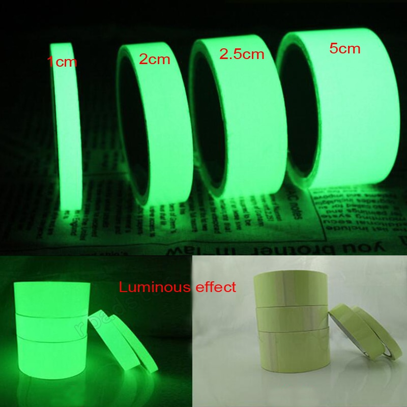 new arrival hot sale luminous photoluminescent tape glow in the dark stage home decoration 10 meters Luminous Photoluminescent Tape Glow In The Dark Stage Home Decoration