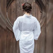 Kimono pour femme à lintérieur porter couleur blanche doux confortable coton Robe de nuit japon traditionnel Yukata