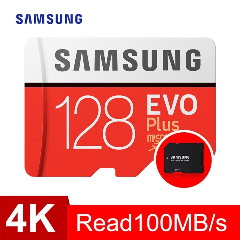 Tarjeta de Memoria SAMSUNG micro sd 128 GB EVO Plus Class10 a prueba de agua TF tarjeta Sim de Memoria para teléfonos inteligentes