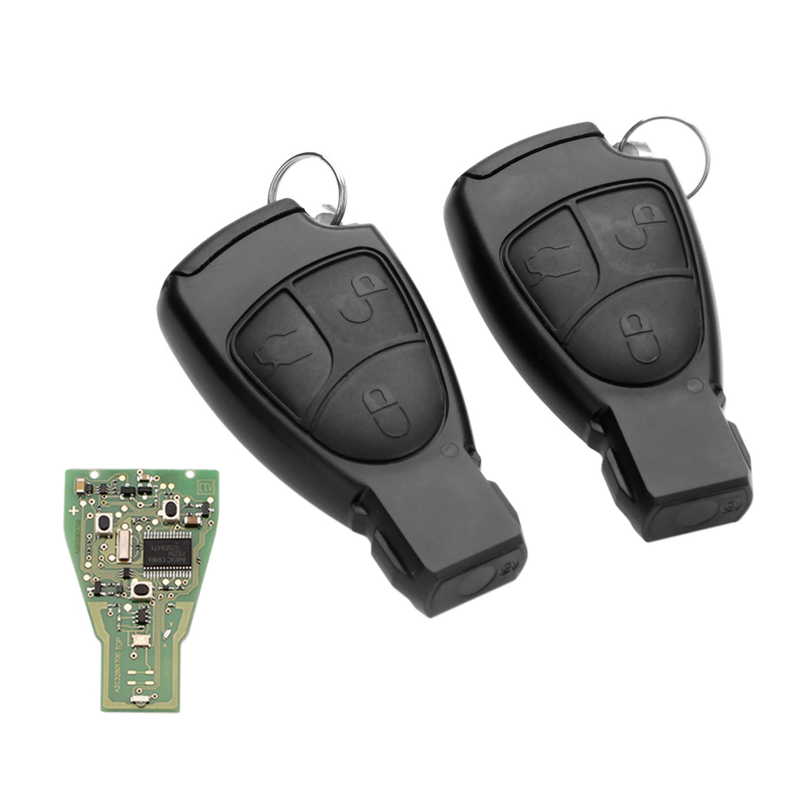 Yetaha 2PCS Fernbedienung Smart Key Mit 7941 Chip Für Mercedes Benz C E S Klasse CLS CLK SLK CL 3 tasten 433,9 MHZ Auto Keyless Remtekey