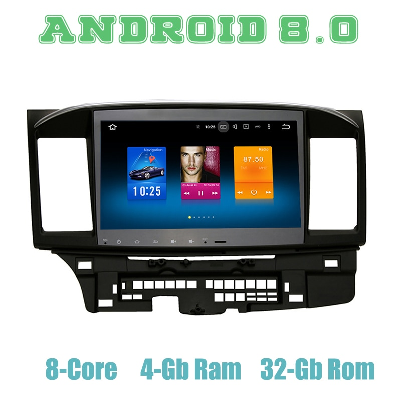 """10.2 """"octa núcleo px5 android 9.0 jogador de rádio gps do carro para mitsubishi lancer ex galant evo com 4g ram wifi 4g usb auto multimídia"""