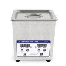 2L numérique nettoyeur à ultrasons paniers bijoux montres dentaire ultrasons Reiniger chauffé ultrasons bain nettoyage réservoir 60W