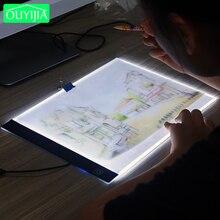 A4 Drei Ebene Dimmbare Led Licht Pad, Tablet Werkzeuge Diamant Malerei Zubehör Diamant Stickerei Auge Schutz A5 Größe