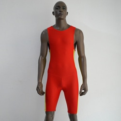Maiô treinamento resistentes cloro impermeável swimwear maiô esporte joelho swimwear