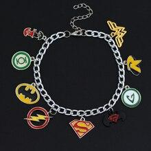 MOCHUN marvels The Avengers Armbänder Die Flash Grünen Laterne Superman Batman Superheld Hängig Armband Frauen Geschenk-25