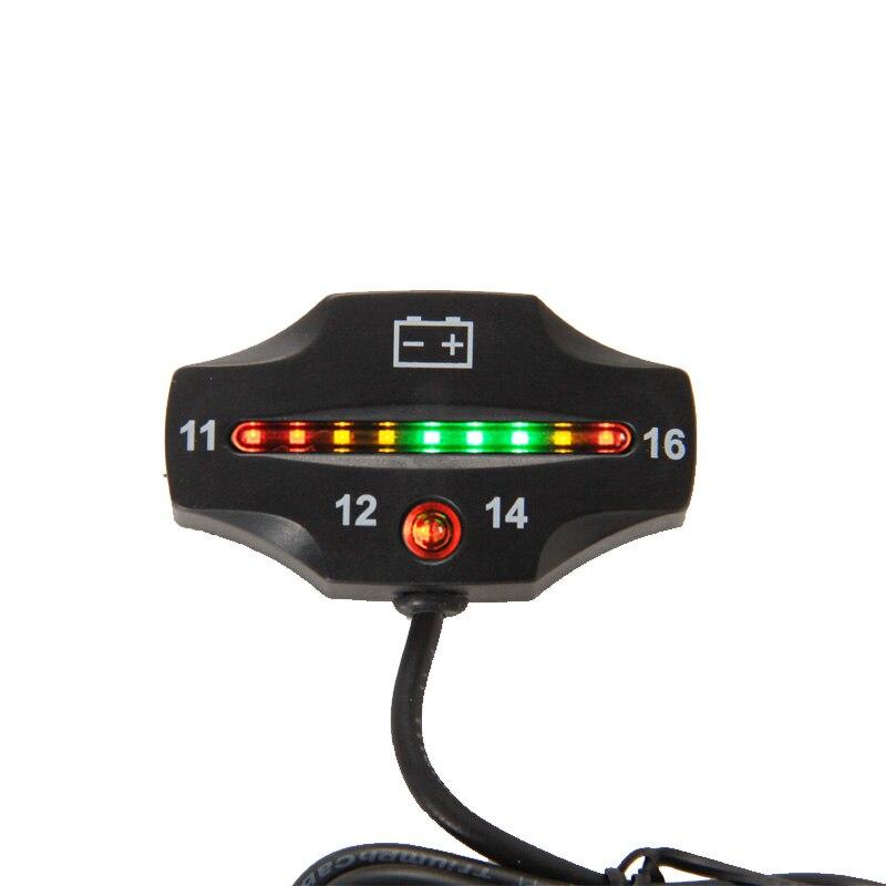 Medidor de batería 9 LED batería voltímetro indicador de batería 12 v para Auto motocicleta ATV Tractor Trolling Motor 50 unids/lote BI006