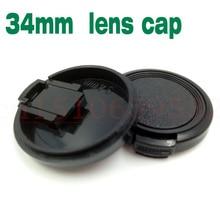 10 stücke 34mm Snap-On Objektiv Vorne Kamera Objektivdeckel Deckel ohne seil für 34mm objektiv filter DSLR Objektiv Beschützer