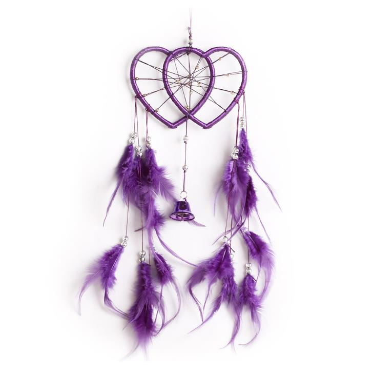 Anéis de coração feitos à mão dreamcatcher casa decoração indiano estilo original dreamcatcher grânulo parede pendurado decoração