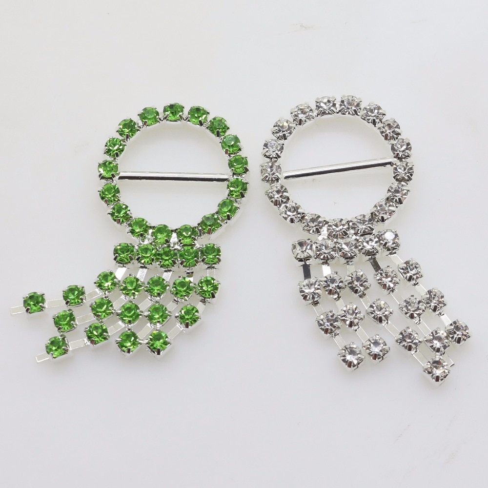 Nuevo 10 Uds. 21*45mm hebilla colorida de diamante de imitación con forma de pulpo cinta deslizante para decoración de invitaciones de boda bolsa zapatos Accesorios