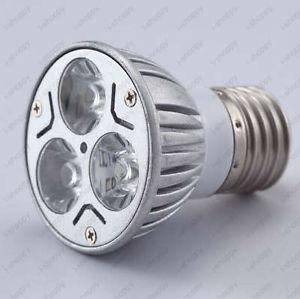 E27 Base 3W High Power Warm White LED Spotlight Golbe Light Lamp Bulb 300 Lumens