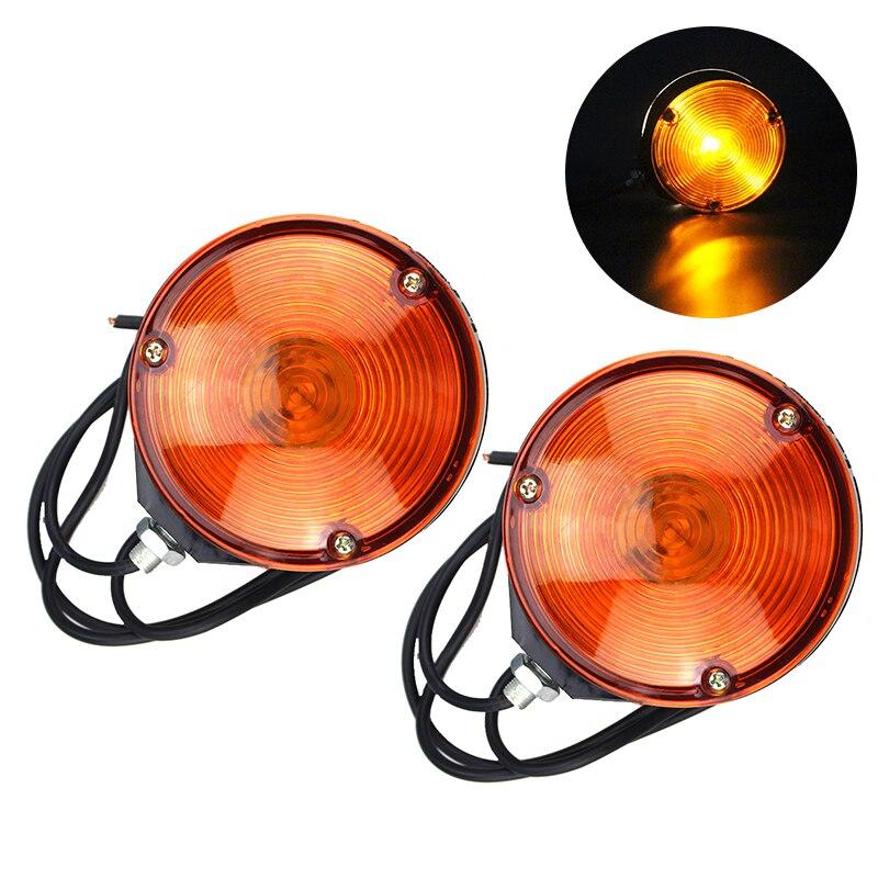 1 par de luces LED Kit redondo de doble cara lámpara de advertencia lateral de ahorro de energía 117*58 MM IP65 impermeable de alta calidad