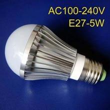 High quality 5W E27 led lights, high power 5W led lamp ,E27 led bulbs 5w free shipping 10pcs/lot