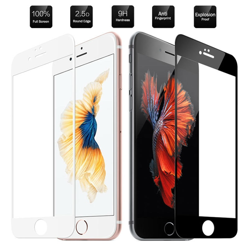 9H закаленное стекло для apple iphone 8 7 6 plus, Полноэкранный протектор HD iphone8 iphone7 iphone6 6 plus 8plus 7 plus, пленка glas iph i
