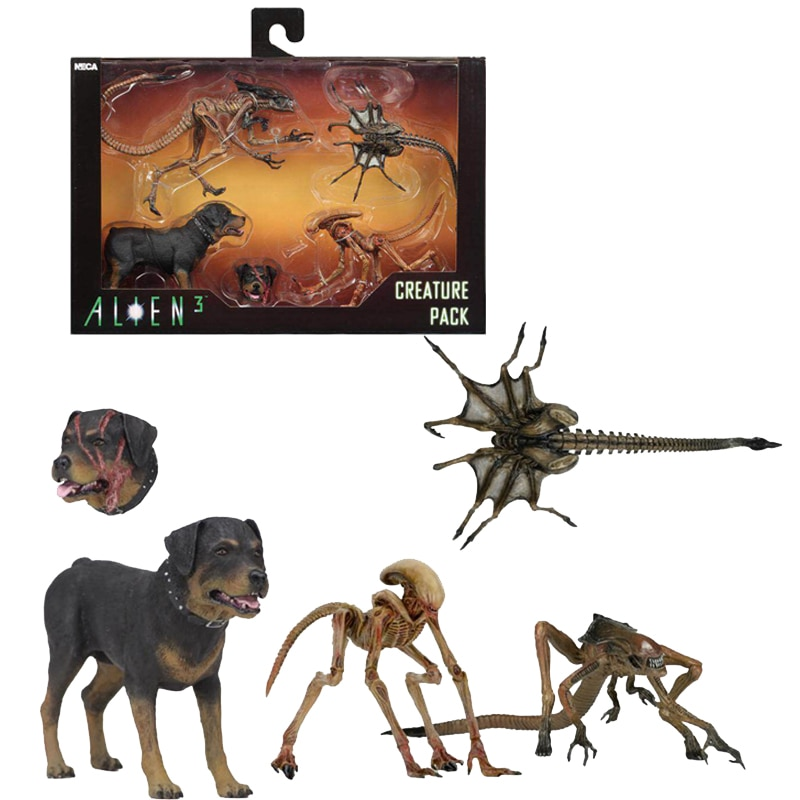 4pcs/set NECA Aliem 3 Alien Dog Creature Pack Action Figure Model Toy Doll Gift 18cm