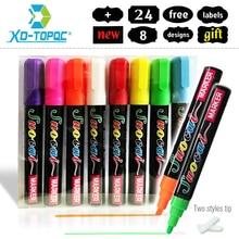 XINDI craie liquide nouveau 8 pcs/lot effaçable surligneur Fluorescent marqueur stylo coloré Art peinture pour tableau blanc LED tableau noir
