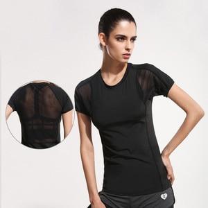 Women Yoga Shirts Sports T-shirt Short Sleeves Yoga Top Fitness Clothing for Women Sportswear Running Clothes Ropa Sports Shirt