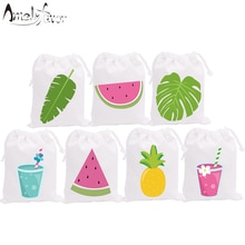 Summer Holiday Theme Party Favor Bags Watermelon Candy Bags Holiday Vacation Birthday Gift Bags Part
