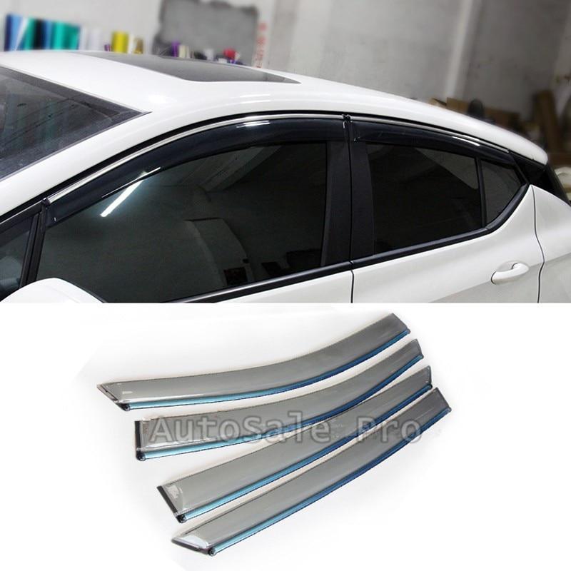 High-quality for Opel Astra K 2015-2017 Plastic Car Window Visor Vent Shade Rain/Sun/Wind Guard Auto accessories