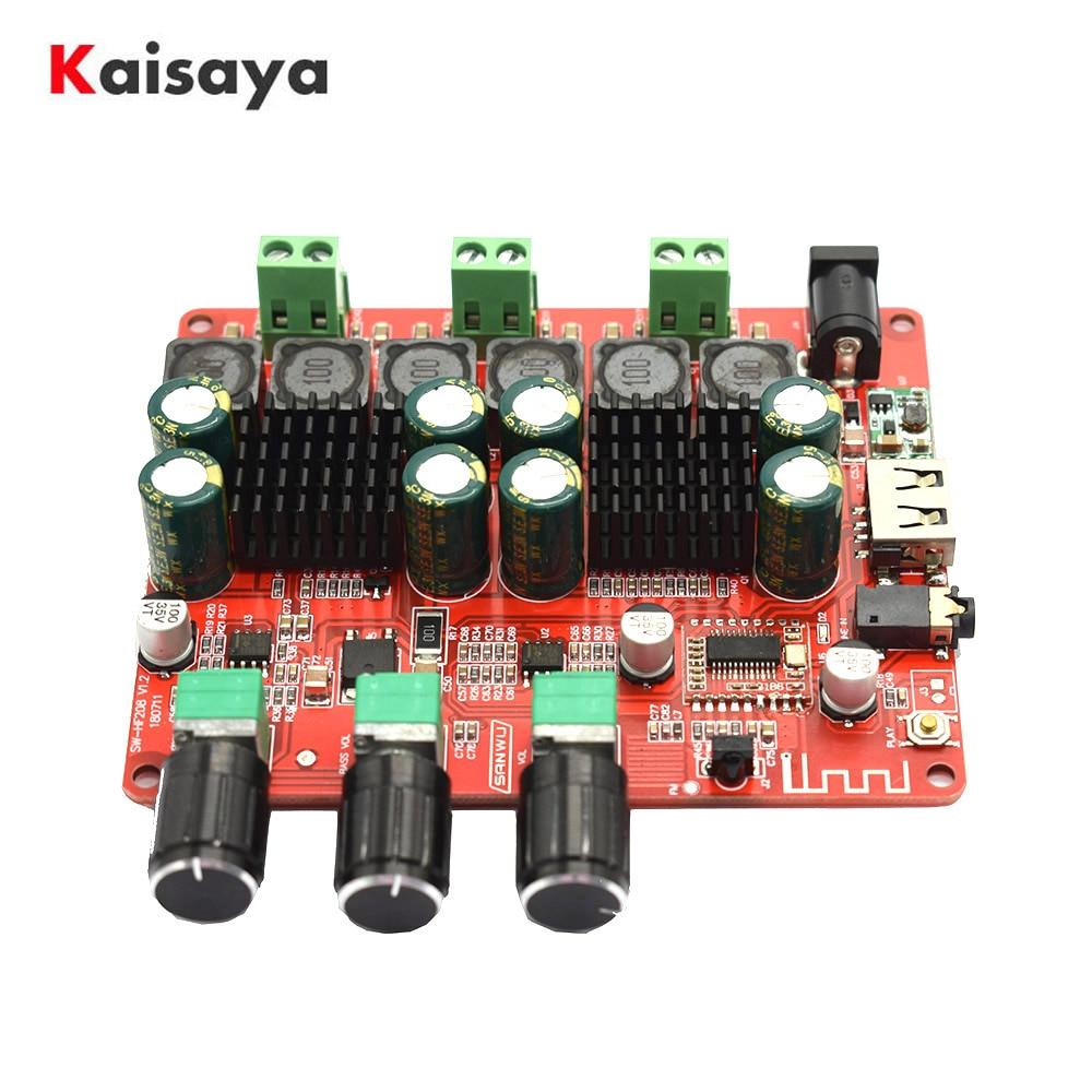 TPA3116 2.1 2x50W+100 4.2 Bluetooth Digital Subwoofer amplifiers FM USB HiFi Power amplifier audio Board + Remote Control F8-009